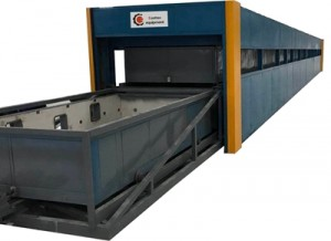 Continua Glass Bending horno