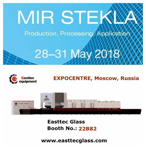 Easttec gler mun sýna á Rússlandi International Glass Fair