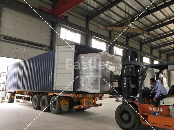 Easttec glass tempering machine delivery