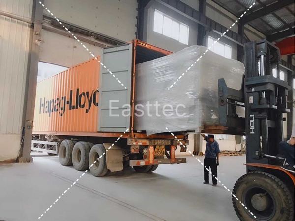 A small tempering furnace delivered to customer abroad