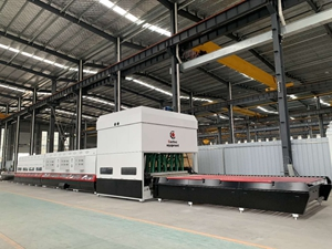 Glass tempering furnace 2440x5000mm with convection and curve for Cambodia customer