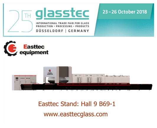 Easttec will attend the 25th Glasstech 2018 in Germany